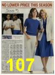 1984 Sears Spring Summer Catalog, Page 107