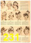 1949 Sears Spring Summer Catalog, Page 231