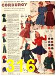 1940 Sears Fall Winter Catalog, Page 316