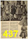 1961 Sears Spring Summer Catalog, Page 437