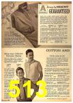 1962 Sears Fall Winter Catalog, Page 513